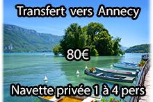 Transfert vers Annecy