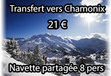Chamonix navette transfert partagee