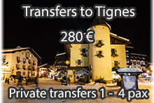 Tignes shuttle transfers