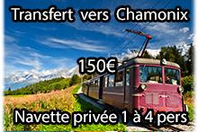 Transfert vers Chamonix