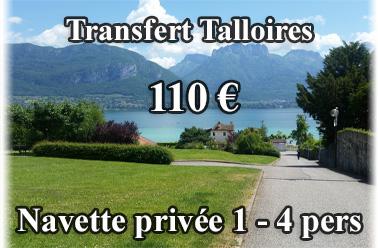 Navette priv�e 110 euros Talloires